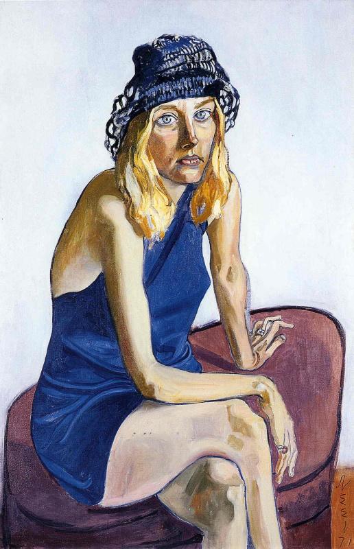 Алиса Нил. Девушка в синей шляпке