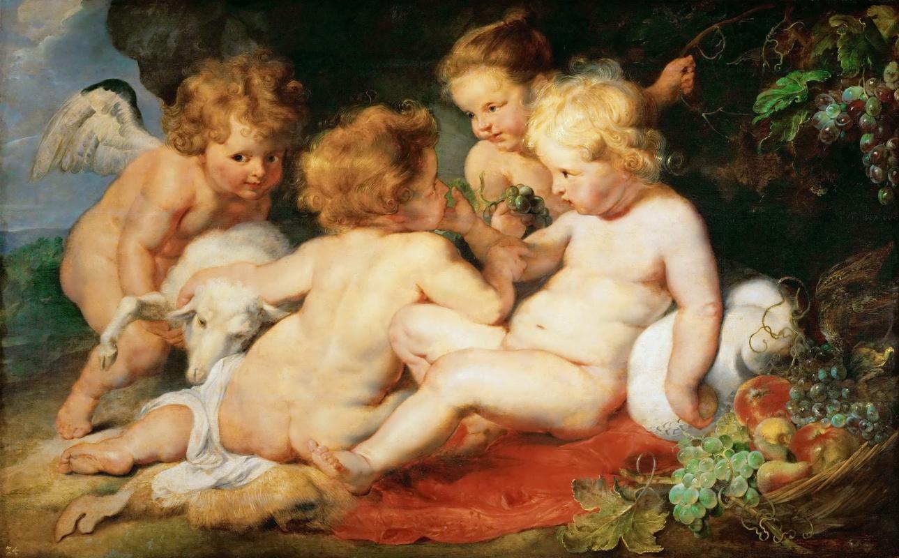Питер Пауль Рубенс. Христос и Святой Иоанн с ангелами