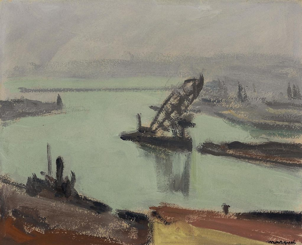 Albert Marquet. The port during a storm. Algeria