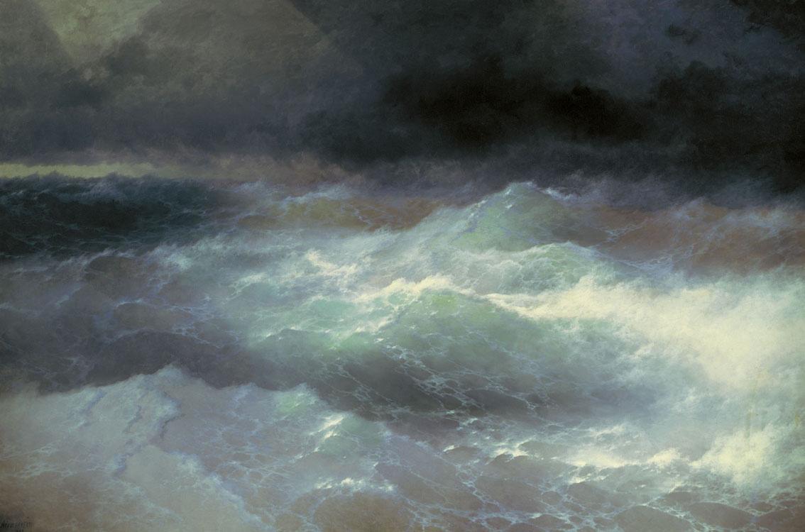 Ivan Aivazovsky. Among the waves