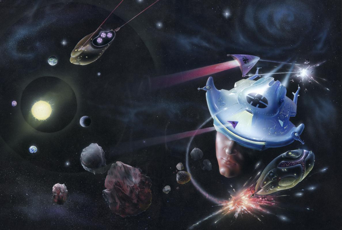 "Rustam Shamilevich Ramazanov. ""Book cover - Jack Chalker"" Charon. Medusa """