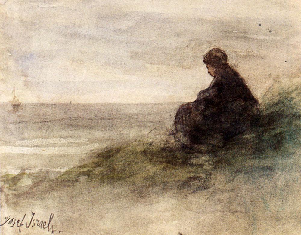 Joseph Israel. Awaiting the fishermen's return