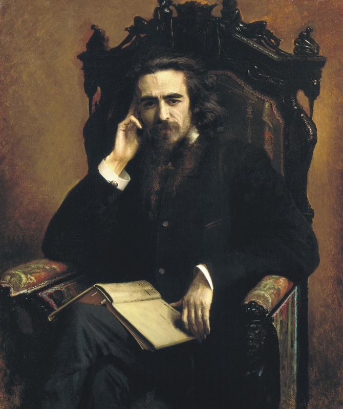 Ivan Nikolayevich Kramskoy. Portrait of the philosopher Vladimir Sergeyevich Solovyov