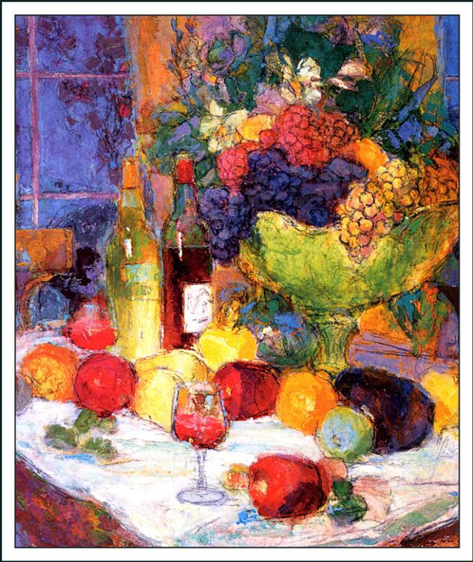 Джон Ла Гатта. Натюрморт с фруктами