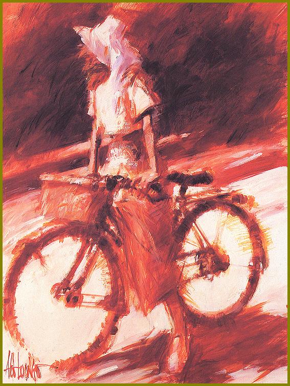 Альдо Луонго. Девушка на велосипеде