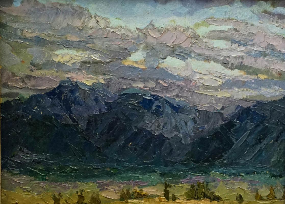 Alexey Alekseevich Drilev. Twilight in the valley near Aktru
