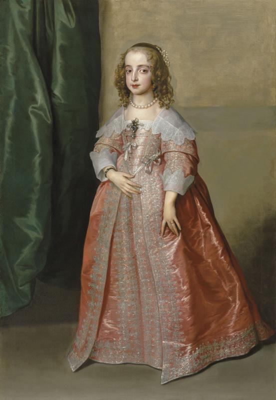 Антонис ван Дейк. Портрет принцессы Марии Генриетты, дочери короля Карла I Английского, в розовом платье
