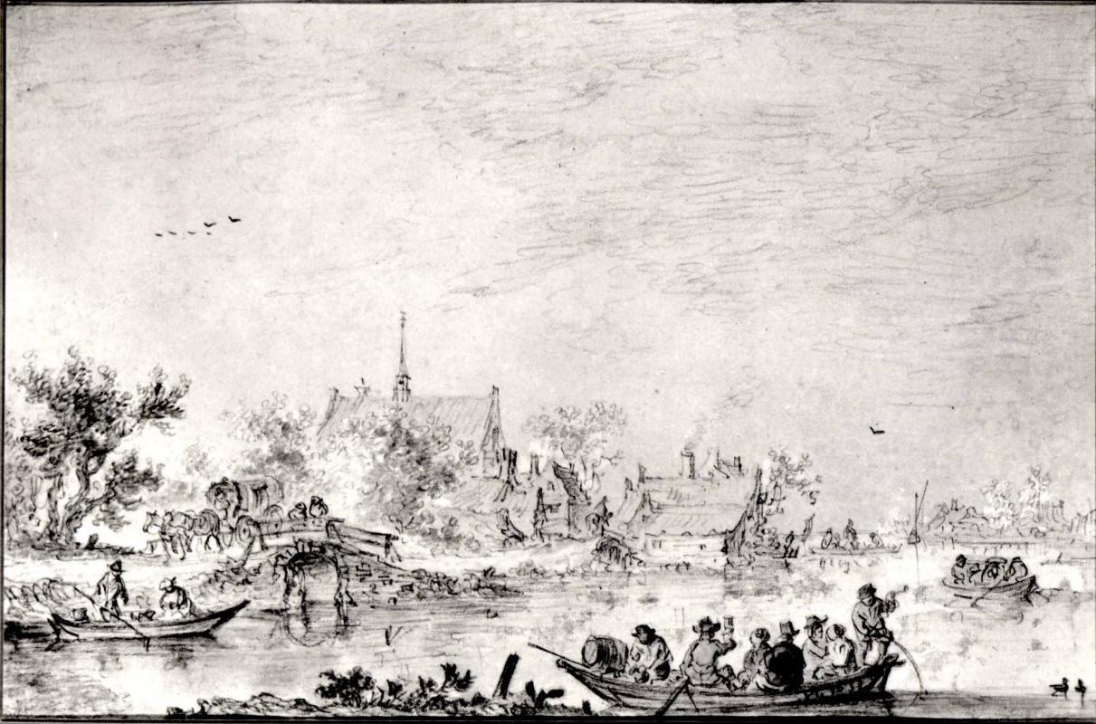 Jan van Goyen. Rowers on the river