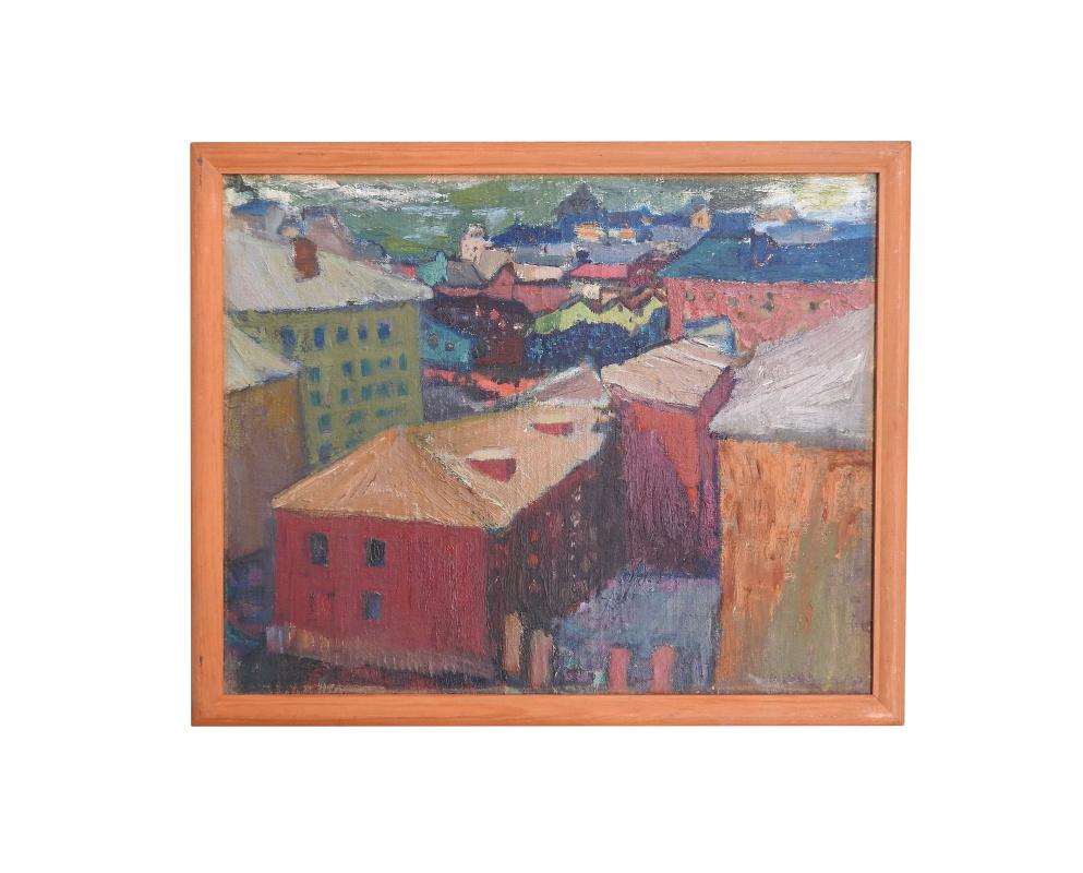 Galina Pavlovna Shuvaeva. Пейзаж с розовым домом