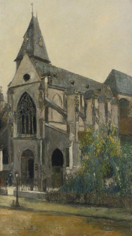 Морис Утрилло. Церковь Сен-Медар в Париже