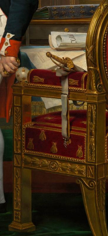 Жак-Луи Давид. Наполеон Бонапарт в рабочем кабинете в Тюильри. Фрагмент