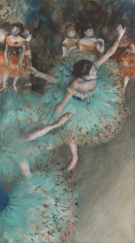 Edgar Degas. Green Dancer (Bowing Dancer)
