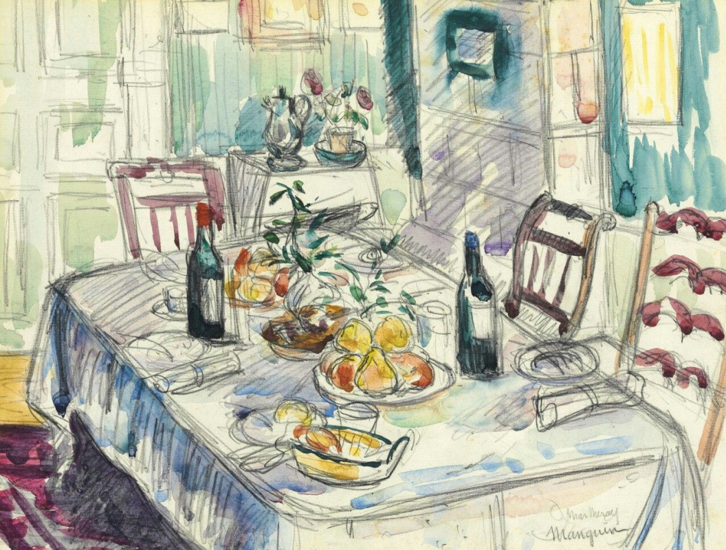 Henri Manguin. Still life of laid table