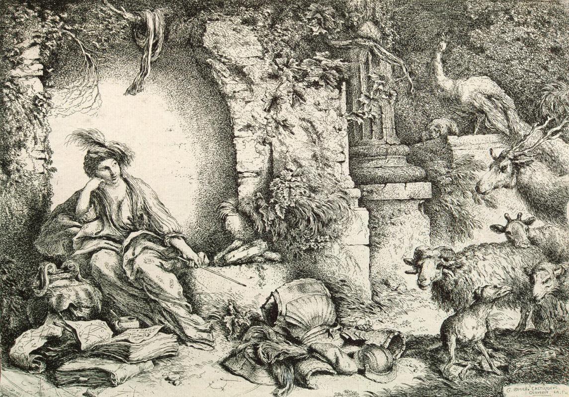 Джованни Бенедетто Кастильоне. Цирцея, превращающая спутников Одиссея в животных