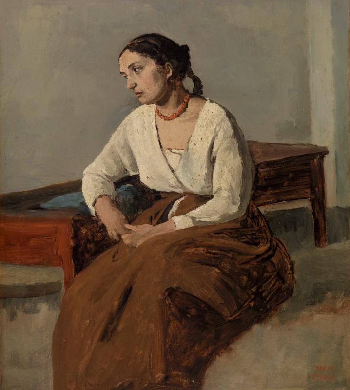 Камиль Коро. Грустящая итальянка