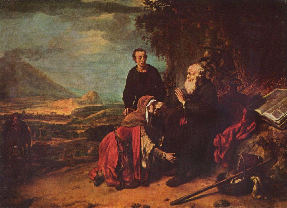 Гербрандт ван ден Экхаут. Пророк Елисей и Суламифь