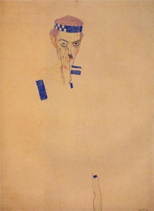 Egon Schiele. Self-portrait