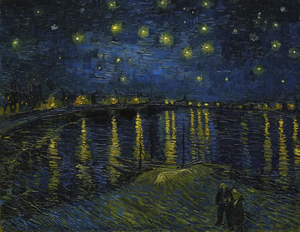 Художник - Винсент Ван Гог - «Звездная ночь над Роной ... Звездная Ночь над Роной Ван Гог