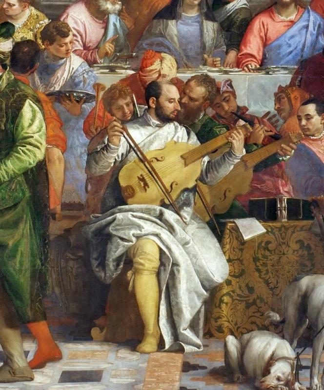 Паоло Веронезе. Свадьба в Кане Галилейской. Фрагмент (Тициан и Тинторетто)