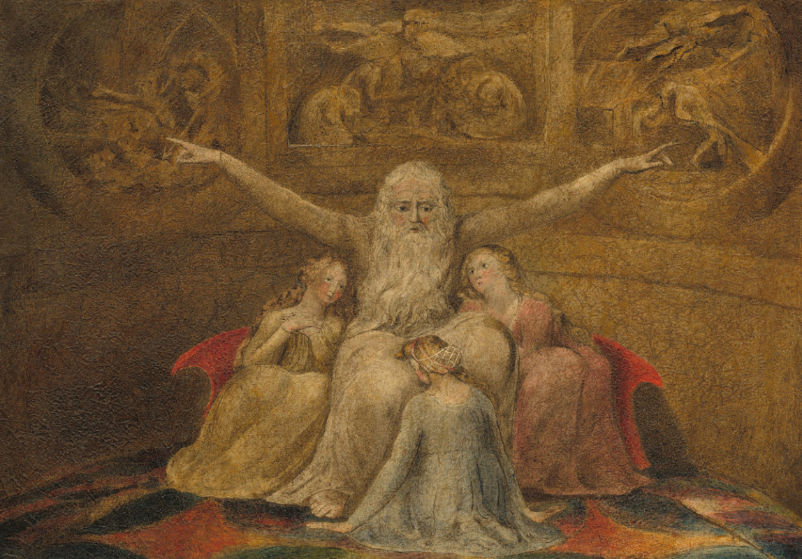 William Blake. Job and his daughters