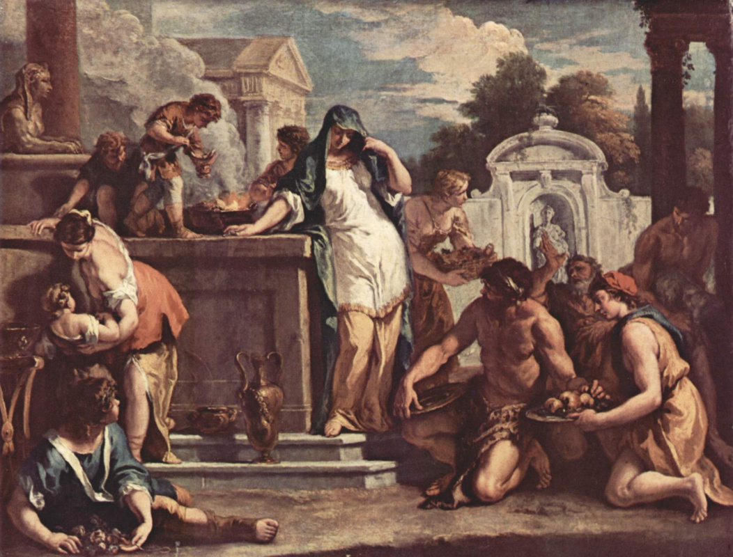 Sebastiano Ricci. A sacrifice to the goddess Vesta