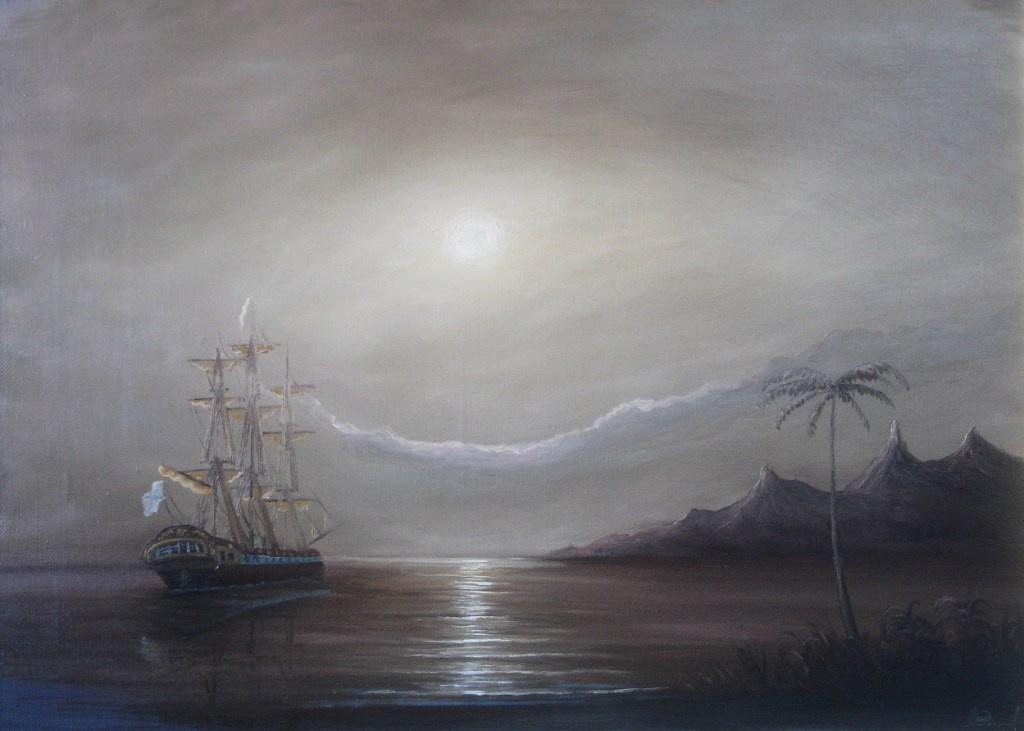 Alexander Sergeevich Terbushev. Russian frigate. Tahiti.
