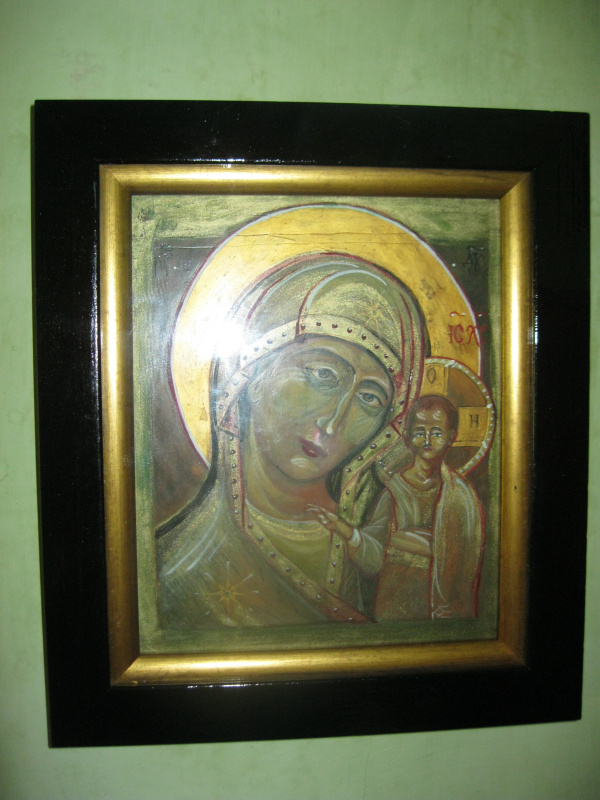 "Olga Evgenevna Klimova. Icon ""The image of the Blessed Virgin Mary of Kazan"""