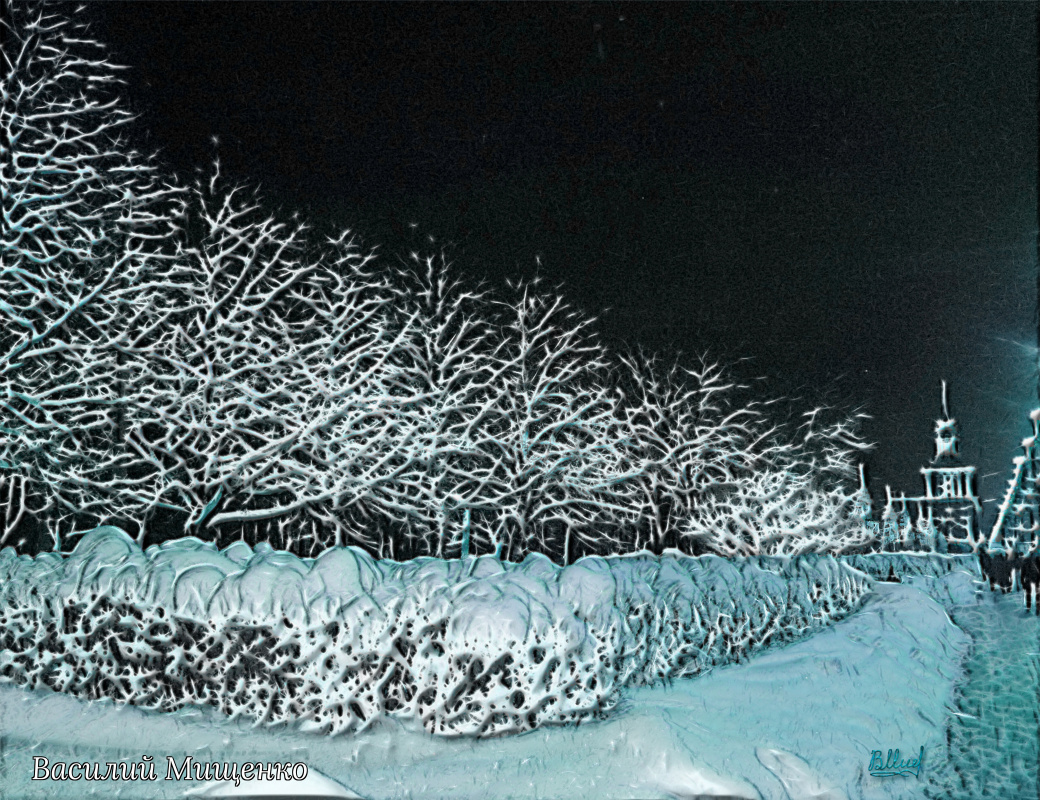 Vasiliy Mishchenko. Winter landscape 0102