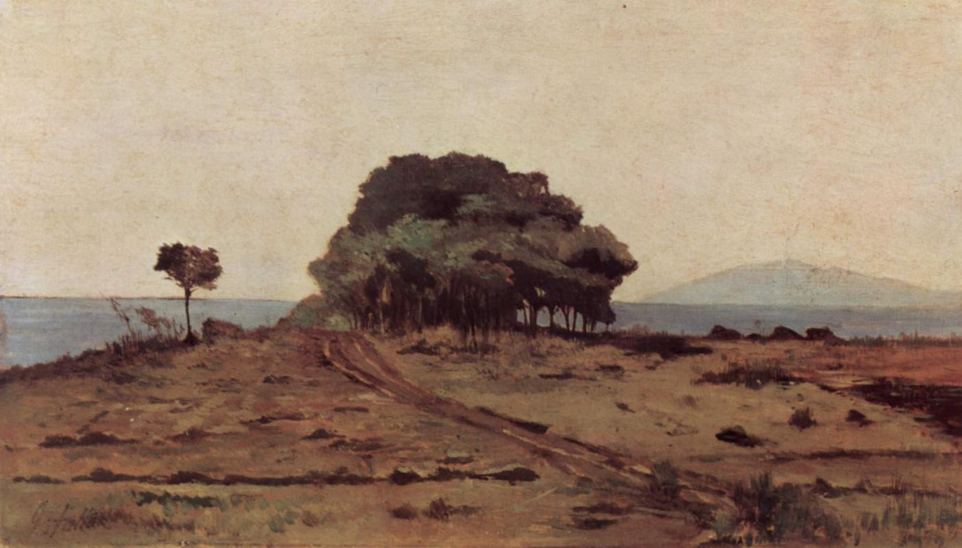 Giovanni Fattori. Trees by the sea
