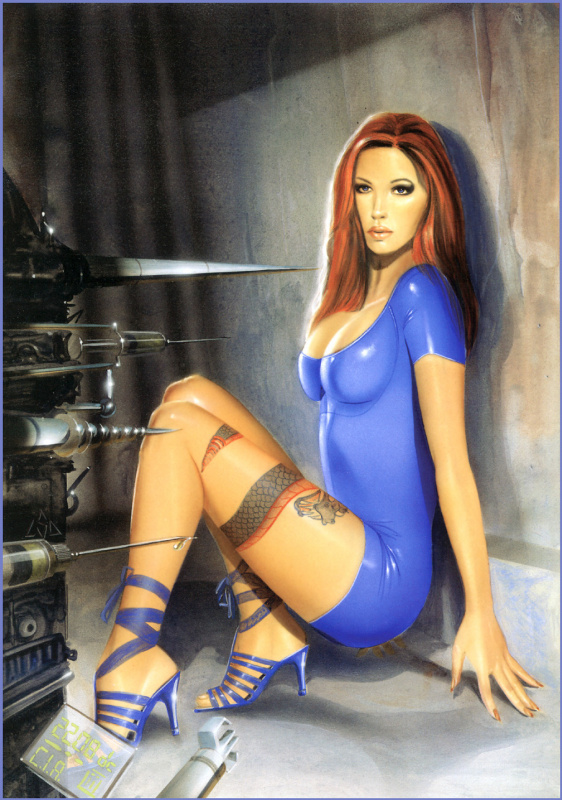 Лоренцо Сперлонга. Девушка в синем платье