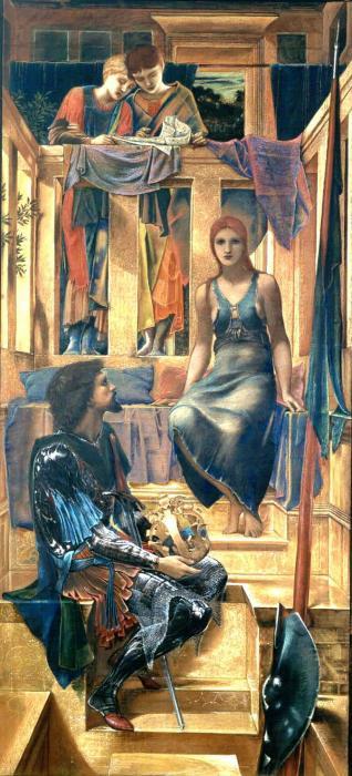 Edward Coley Burne-Jones. King Kofetua and the beggar (etude)