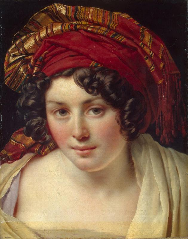 Anne-Louis Girode de Russi-Triosone. Head of a woman in a turban