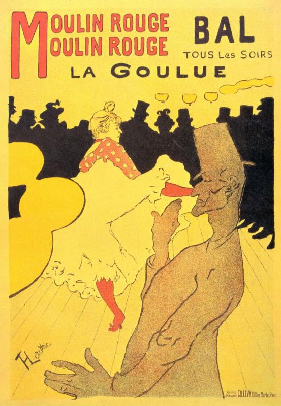 Henri de Toulouse-Lautrec. Moulin Rouge La Goulue Poster
