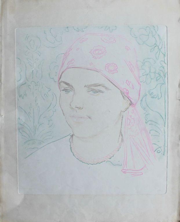 Alexandra Onufrievna Followed. Portrait of a girl