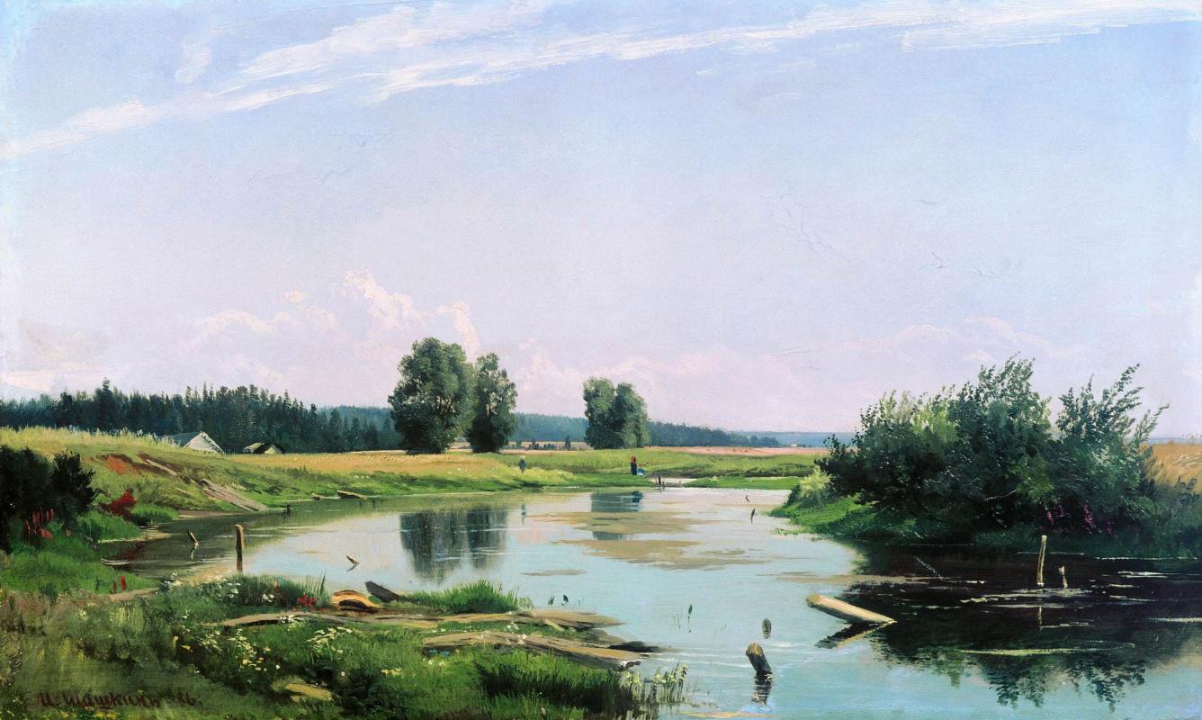 Иван Иванович Шишкин. Пейзаж с озером