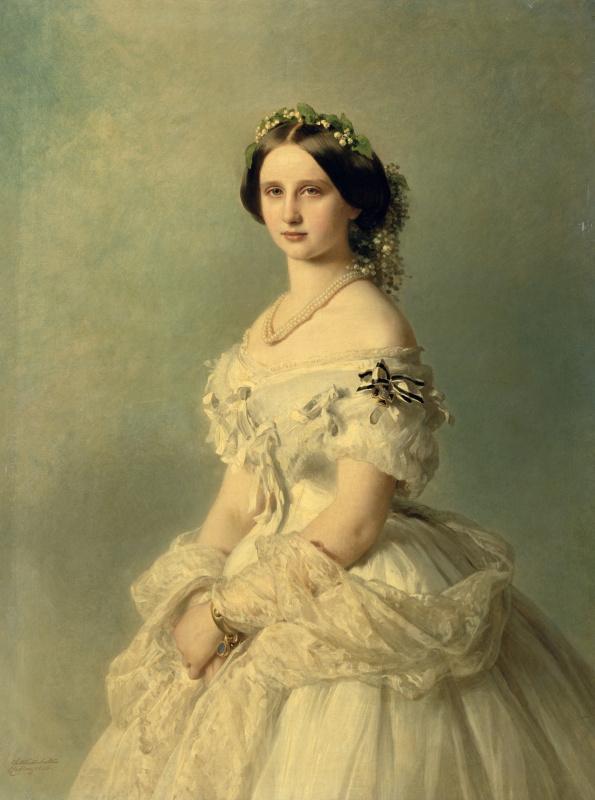 Franz Xaver Winterhalter. Portrait of Princess of Baden