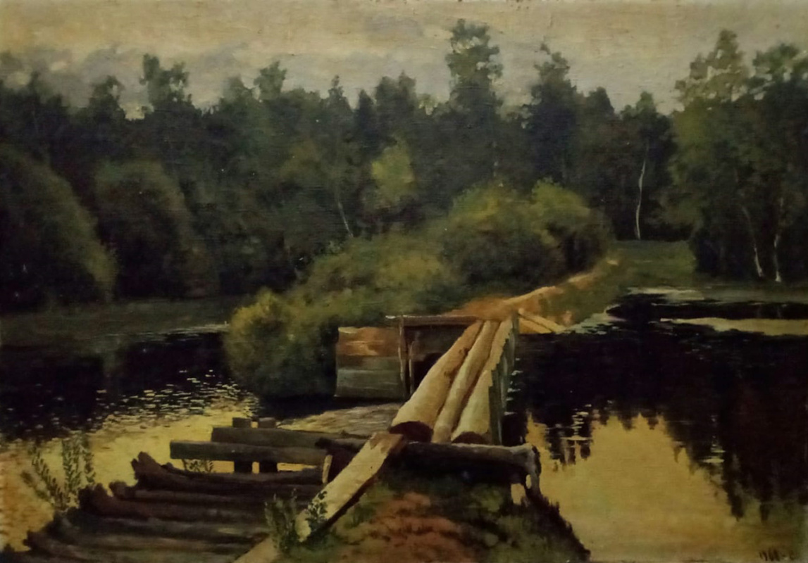"Unknown artist. Copy of Levitan's painting ""At the Pool"""