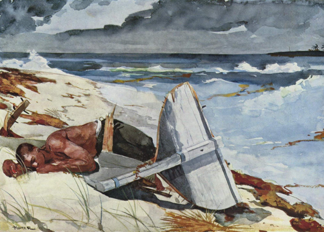 Winslow Homer. After the hurricane, Bahamas