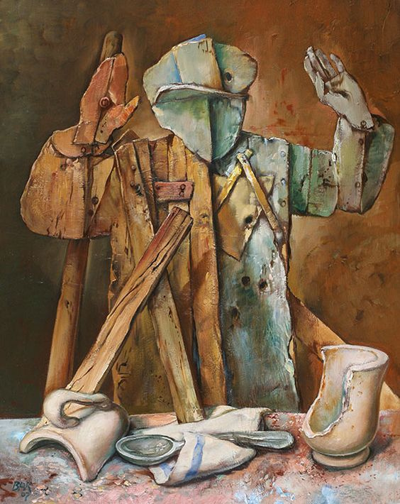 Samuel Bak. With a Silver Spoon