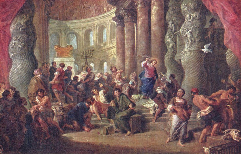 Джованни Паоло Паннини. Иисус, изгоняющий торговцев из храма