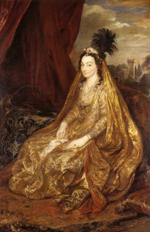Portrait of Teresa Khan, lady Shirley