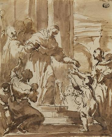 Giovanni Battista Crosato. Saint Charles Borromeo.