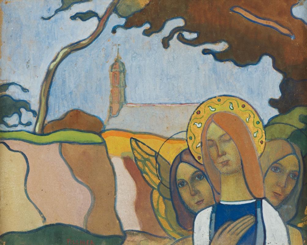 Шарль Филиже. Мадонна с двумя ангелами, или Мадонна и светлячки