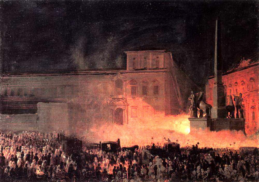 Карл Павлович Брюллов. Политическая демонстрация в Риме