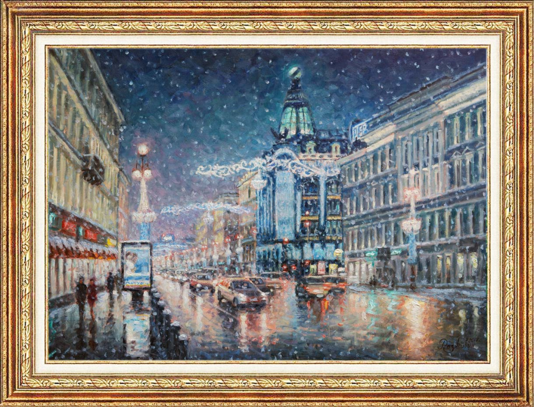 Igor Razzhivin. Christmas lights Nevsky Prospekt.