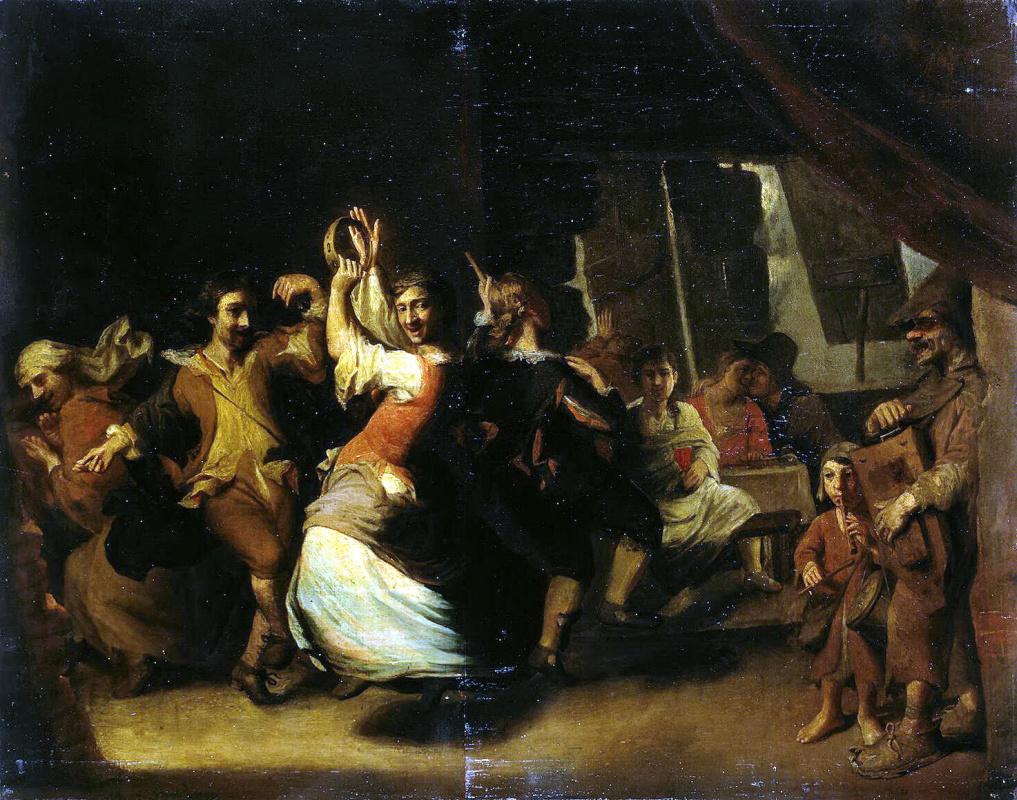 Матеус Беркманс. Танец в шинке