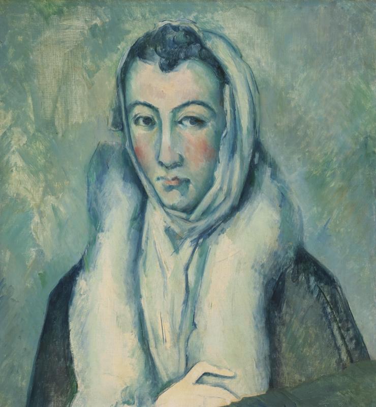 Поль Сезанн. Дама в горностае. Подражание Эль Греко