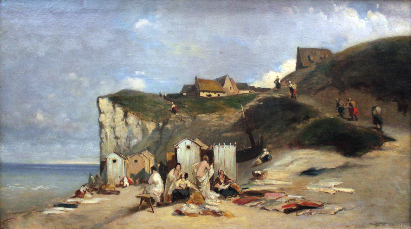 Karl Spitzweg. Women's bath in Dieppe