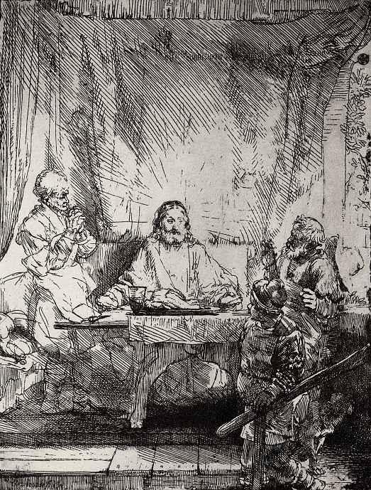 Рембрандт Ван Рейн. Христос в Эммаусе