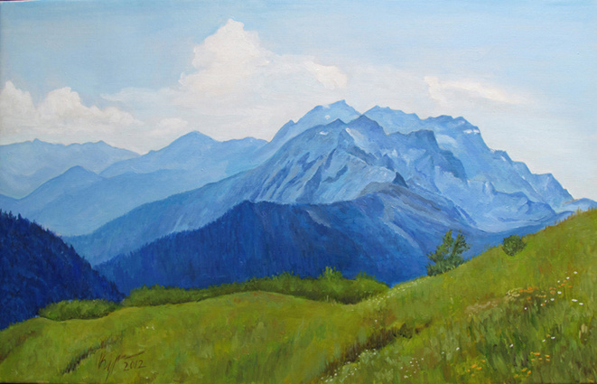 Alexander Pavlovich Kurganov. Mountains in the haze